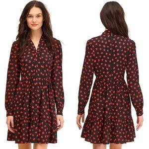 Kate Spade Heartbeat Tie Neck Shirtdress Size 6
